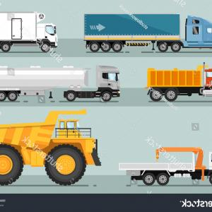 Vector Vacuum Trailer: European Truck Without Trailer Sketch Vector