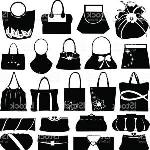 Purse Vector Art: Accessories Line Icon Women Purse Gm