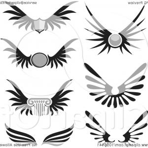Vector Hi Res Black And White Wing: Digital Collage Of Black And White Wings