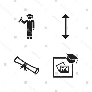 Rolled Diploma Vector: Diploma Icon Vector Icons Set