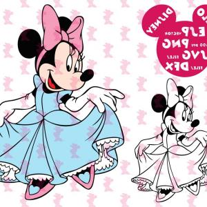 Minnie Mouse Vector Clip Art: Disney Svg Minnie Mouse Princess Clipart