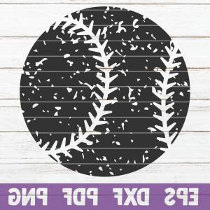 Distressed Baseball Vector Art: Distressed Baseball Svg Cut File Commercial Use