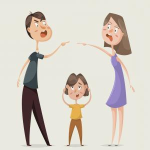 NFL Vector Images In Illustrator: Divorce Family Conflict Wife Husband And Child Vector