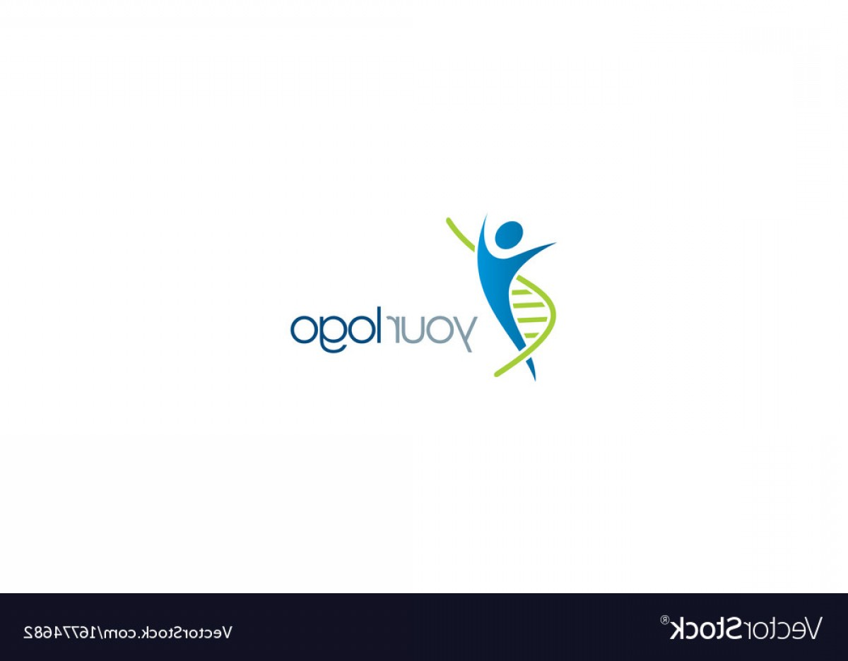 Health Vector Logo: Dna People Health Care Logo Vector