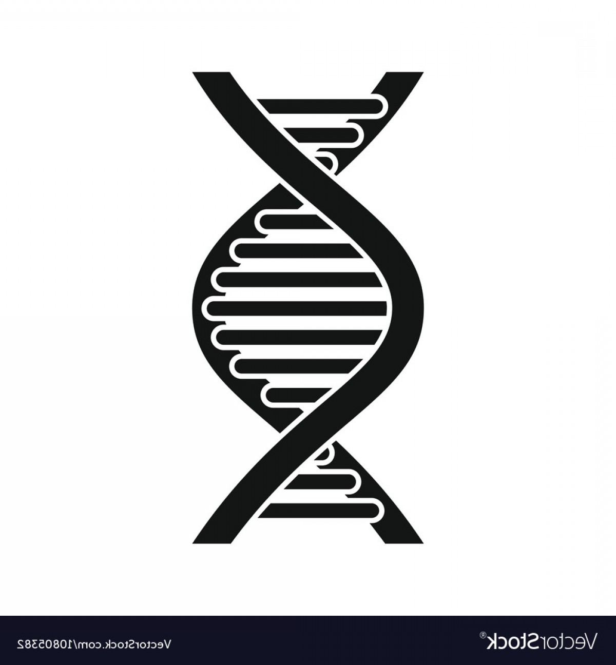 DNA Helix Vector: Dna Strand Icon Simple Style Vector