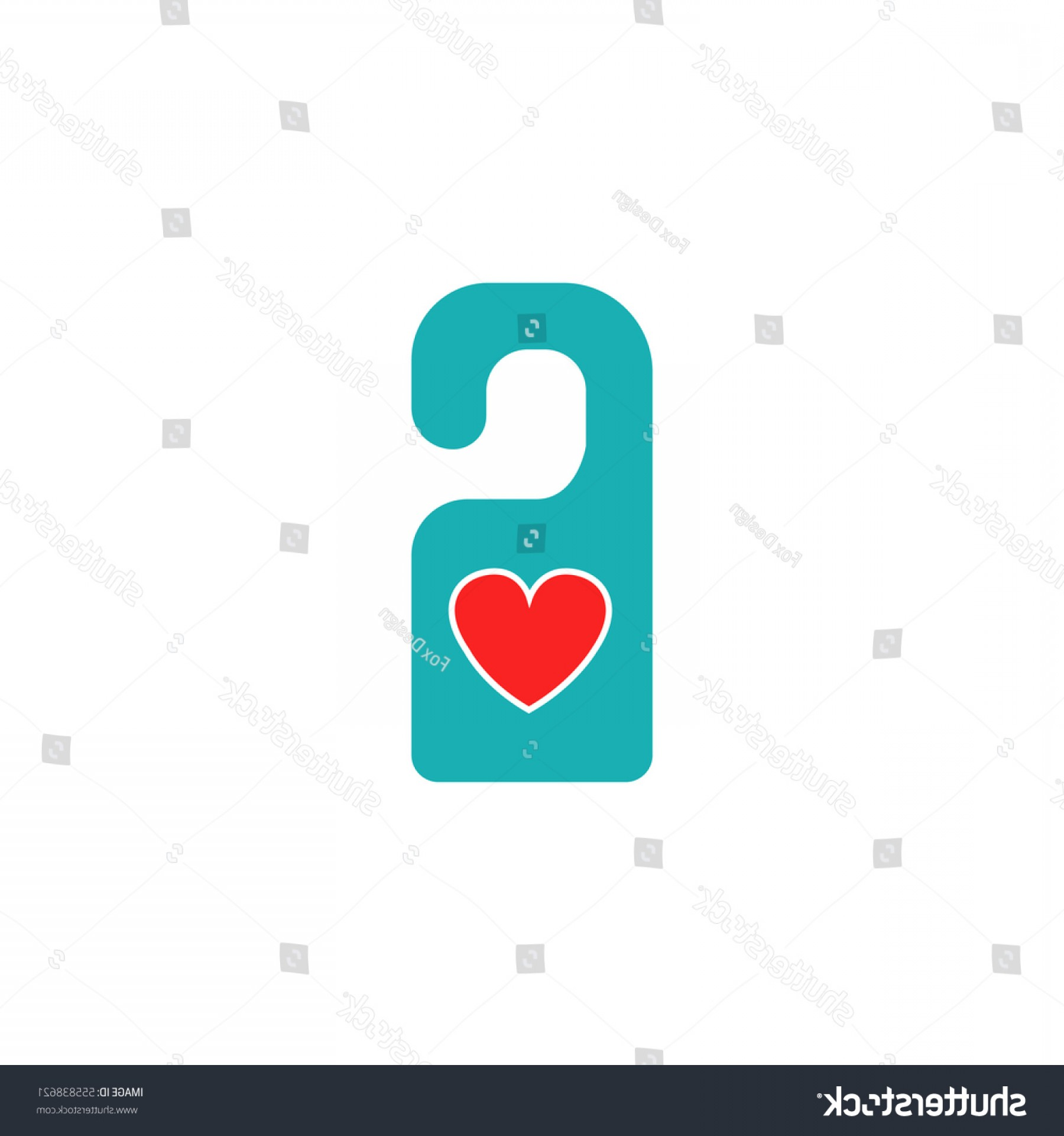 Solid Heart Vector Drawing: Do Not Disturb Heart Solid Icon
