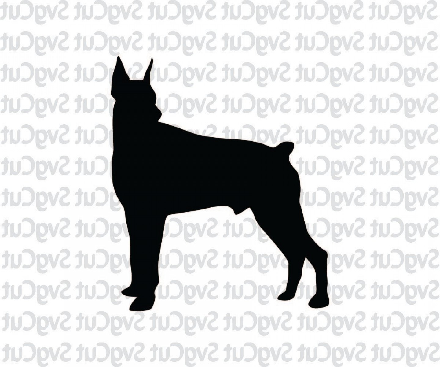 Double Boxer Dog Vector: Dobermann Dog Dog Lover Svg Dog Vector
