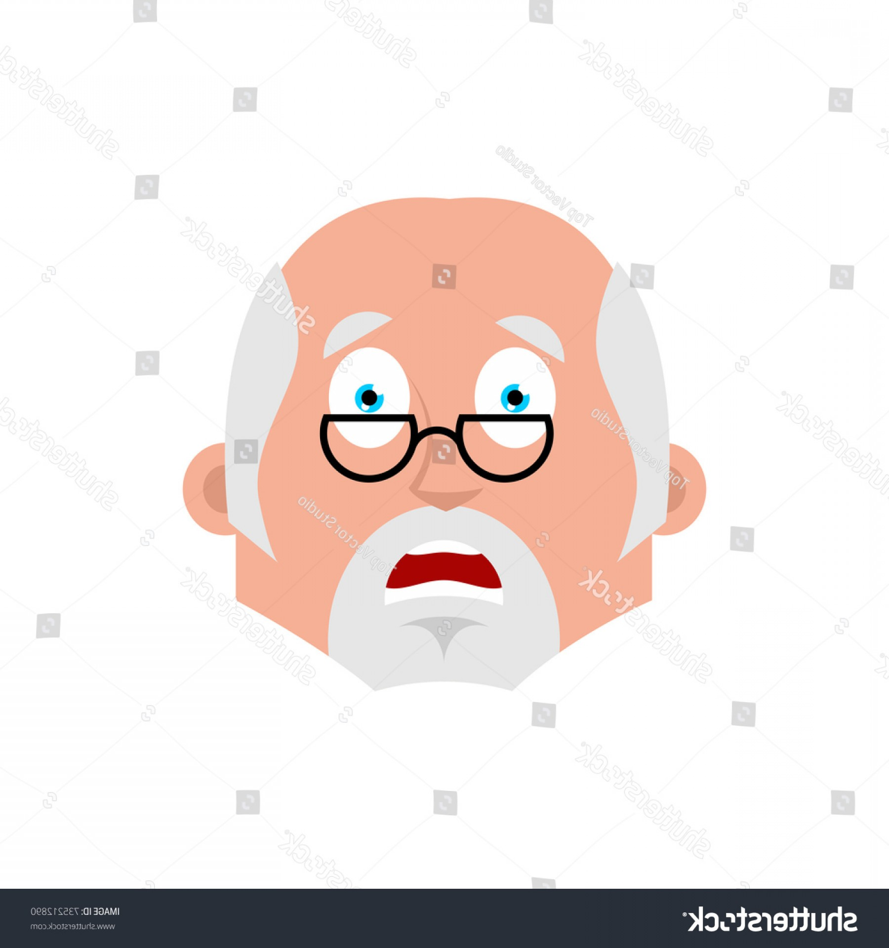 Fear The Beard Vector: Doctor Scared Emotion Avatar Physician Fear