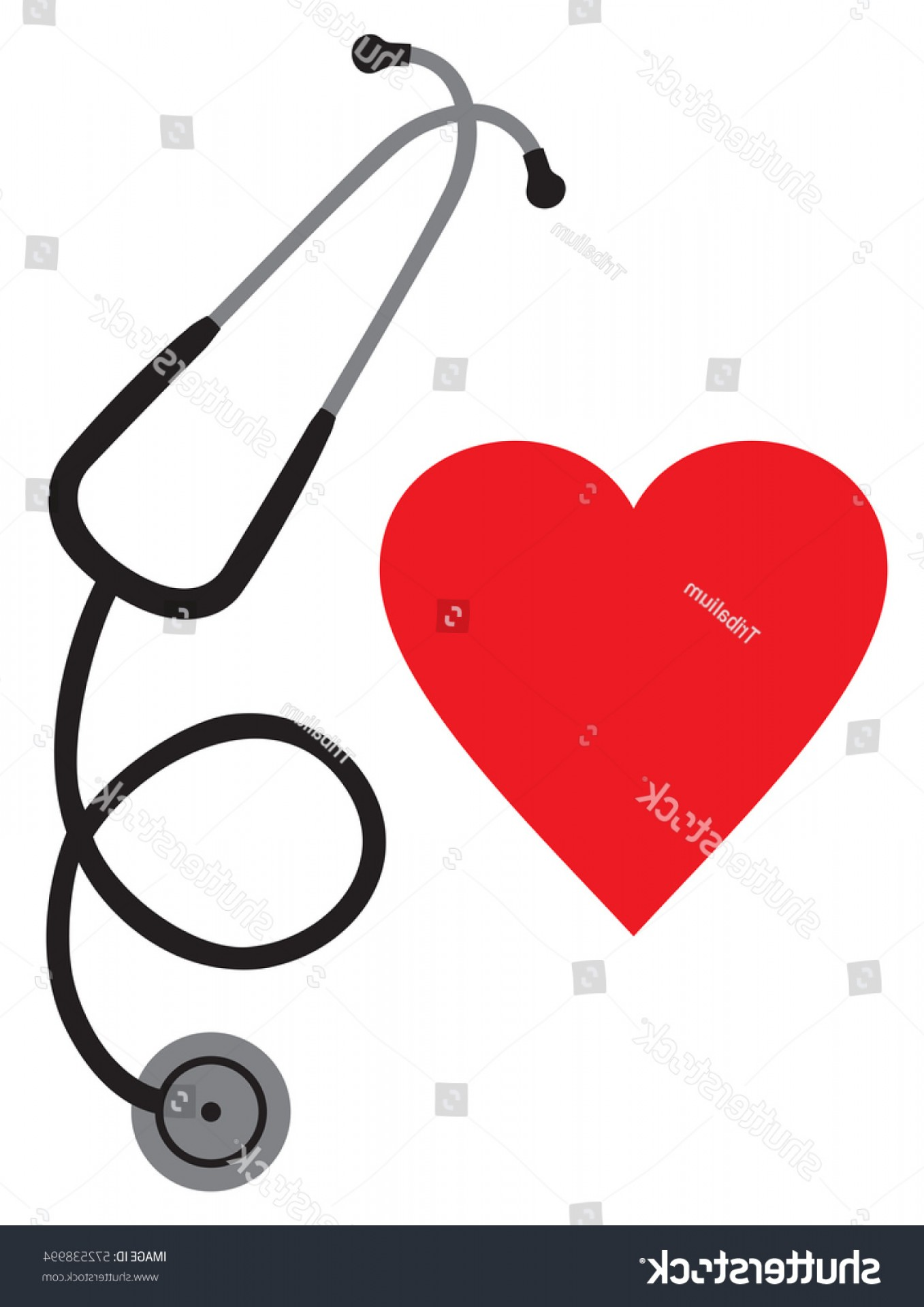 Stethoscope With Heart Vector Art: Doctors Stethoscope Heart Vector Icon