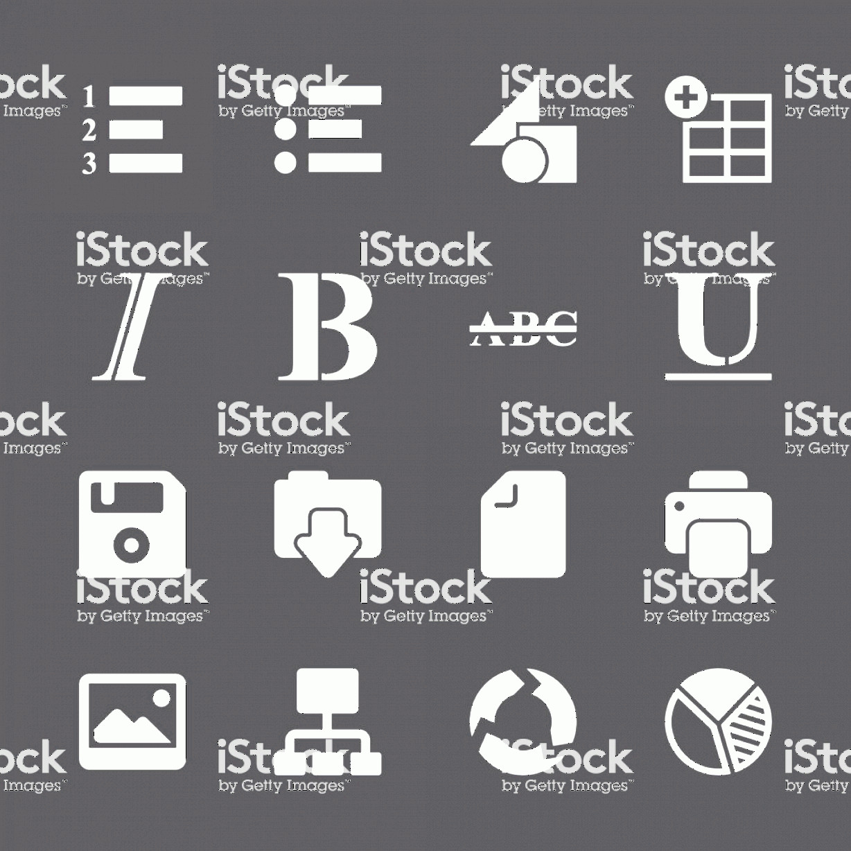 Editors Symbols In Vector: Document Editor Tool Icons White Series Eps Gm
