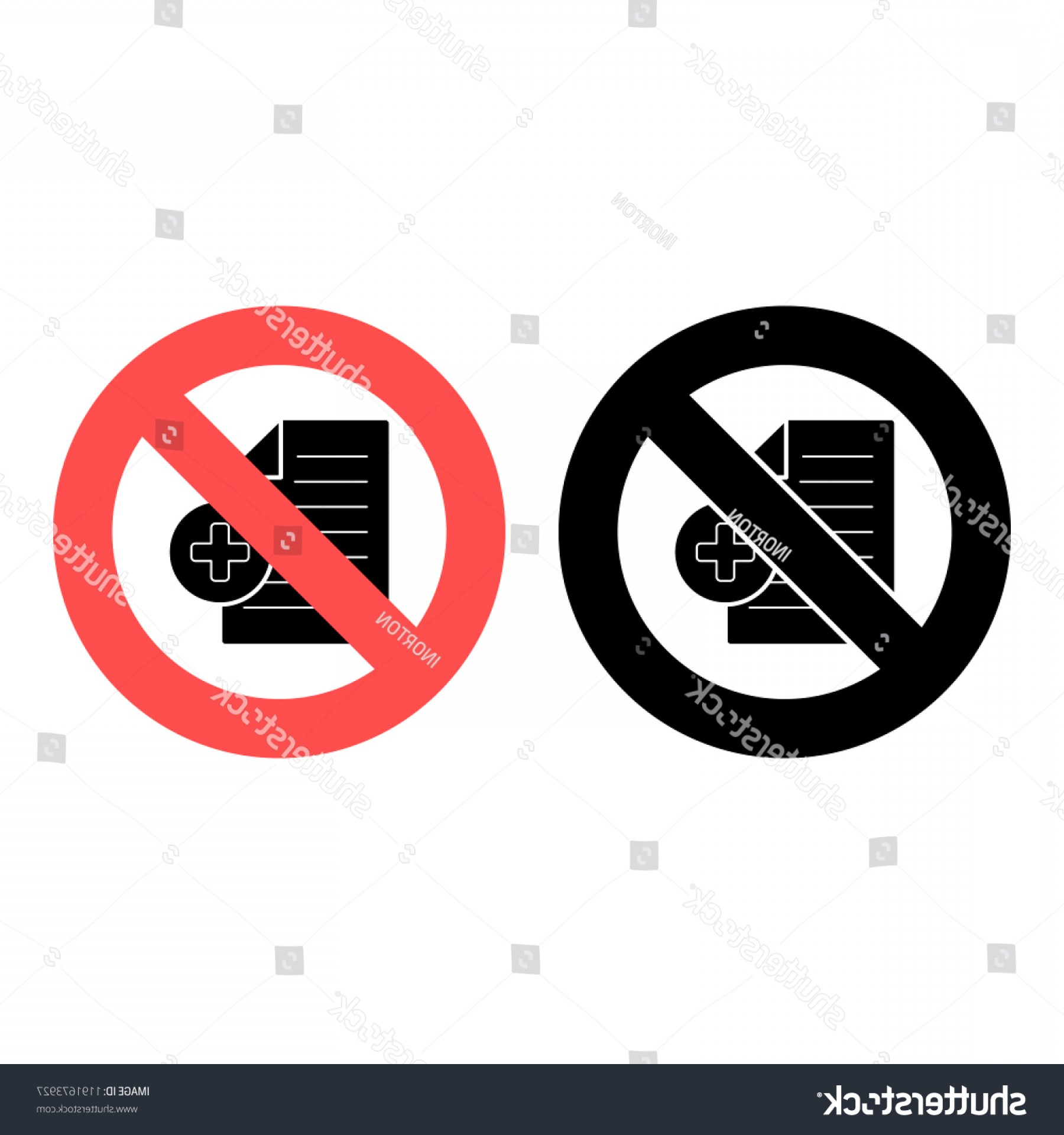 Vector Ban Plus: Document File Plus Icon Simple Glyph