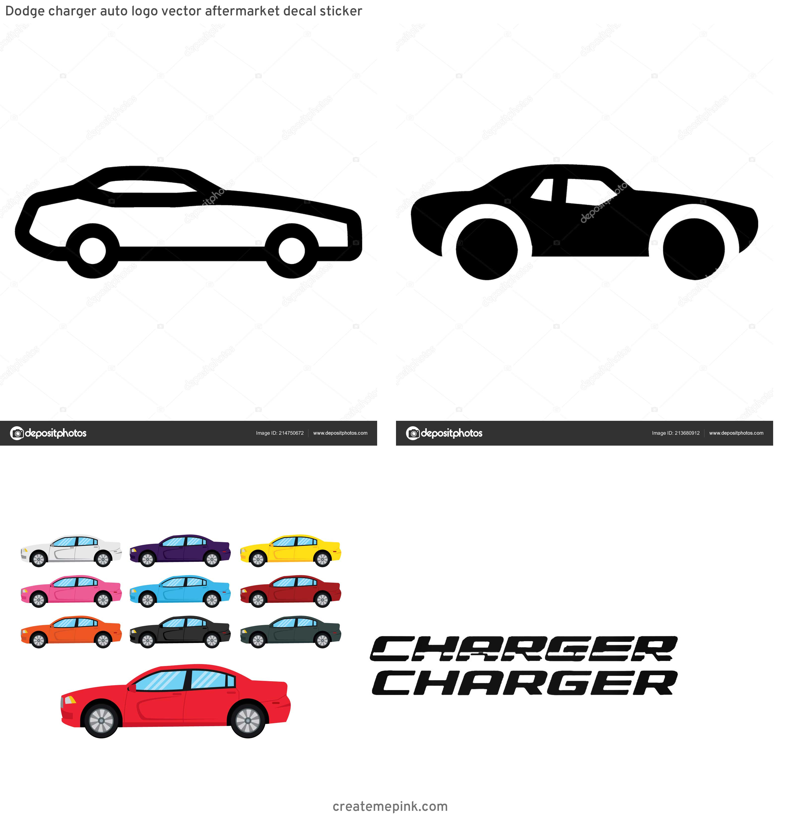 Dodge Charger Vector: Dodge Charger Auto Logo Vector Aftermarket Decal Sticker