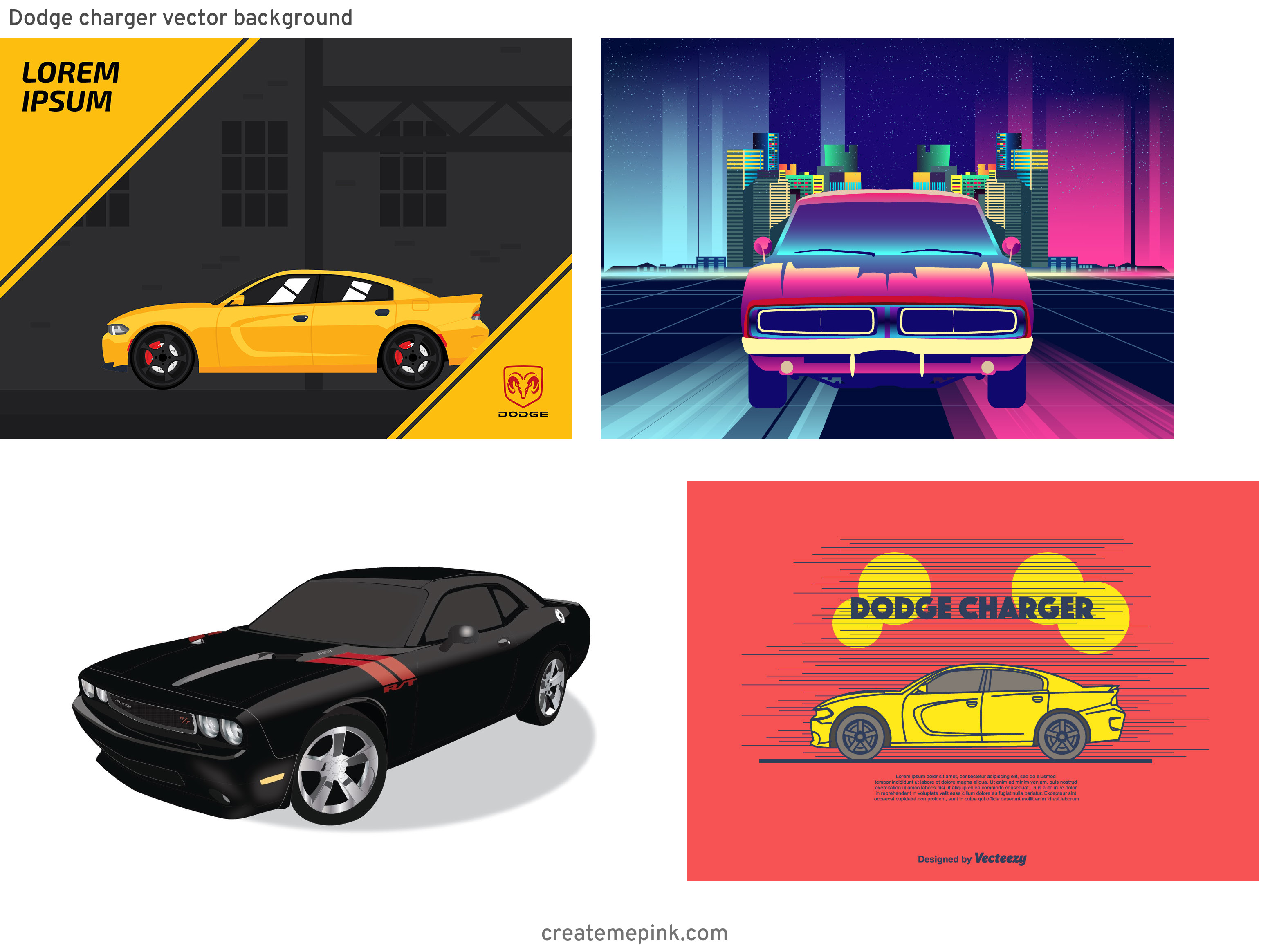 Dodge Charger Vector Graphics: Dodge Charger Vector Background