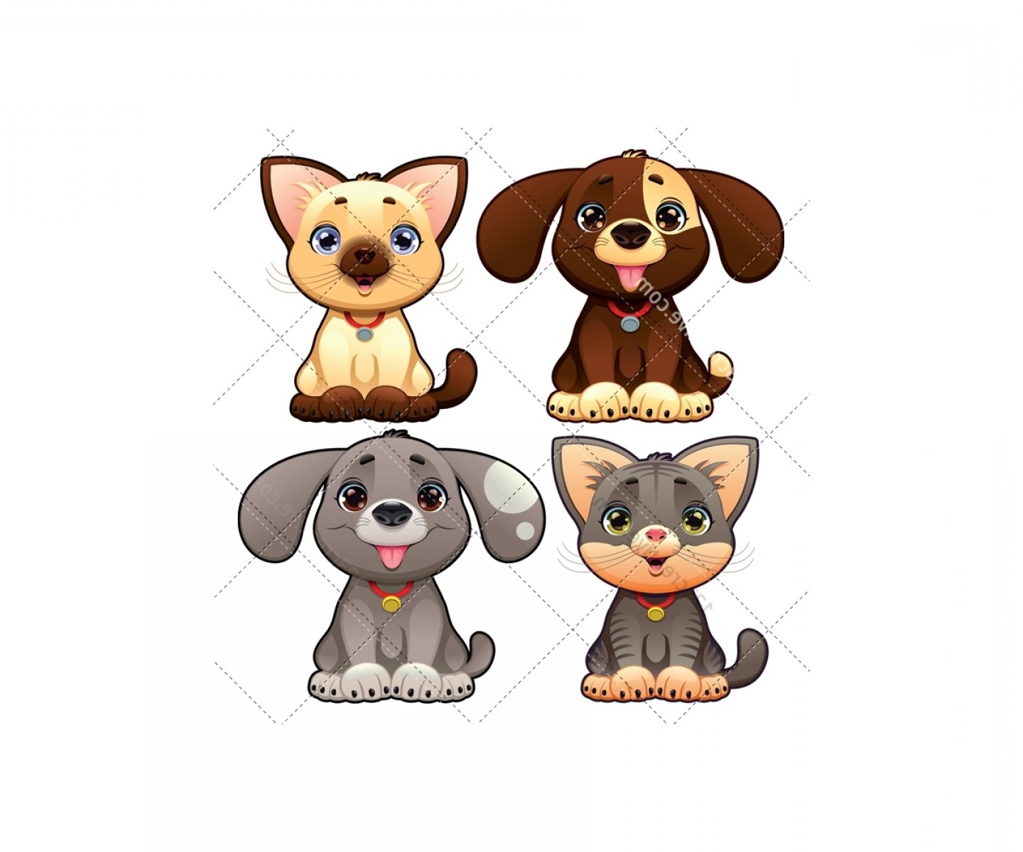 Dog And Cat Vector Illustration: Dog And Cat Vector Pack