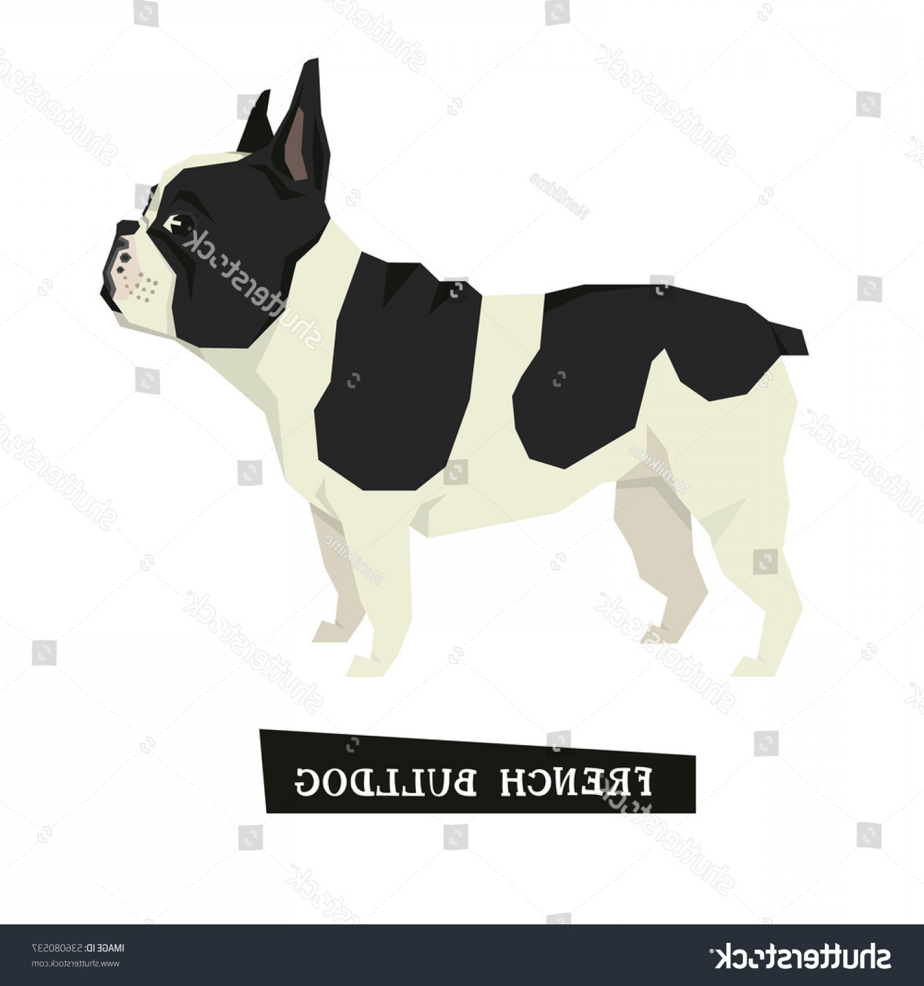 Double Boxer Dog Vector: Dog Collection French Bulldog Geometric Style