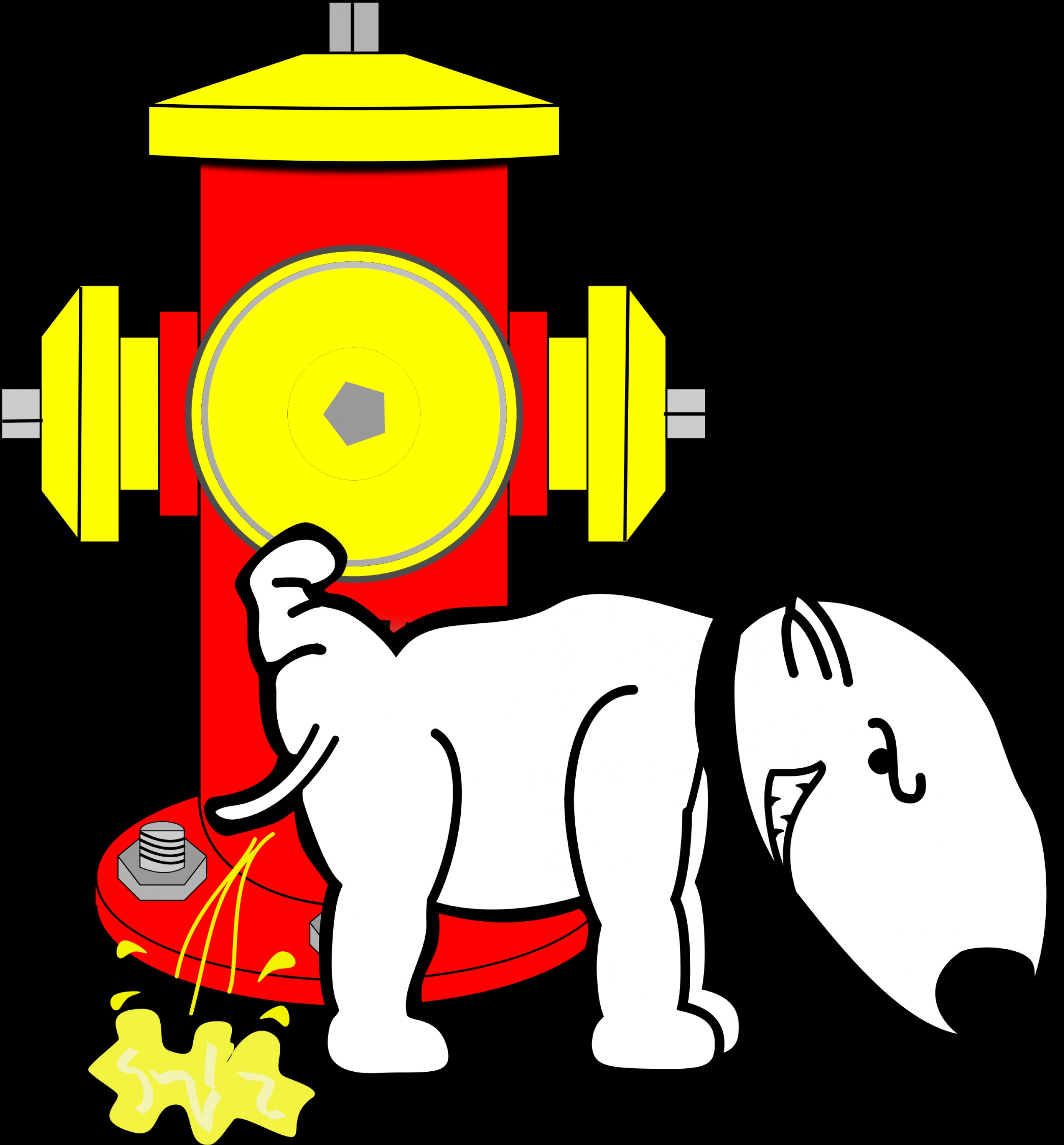 Pee On Clip Art Vector Graphic: Dog Peeing On Fire Hydrant Vector Clipart