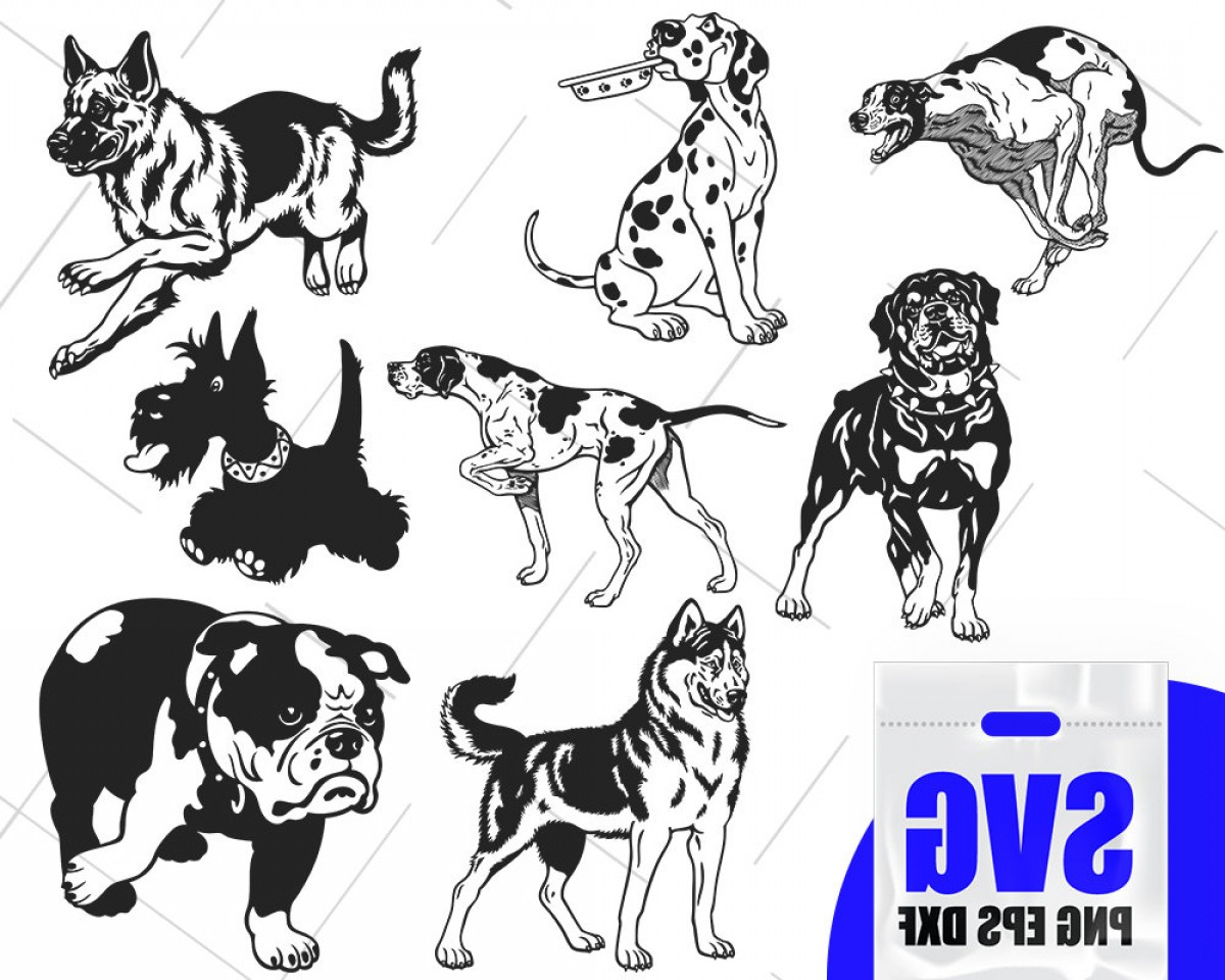 Double Boxer Dog Vector: Dog Svg Files Dalmatian Svg Dog Clipart