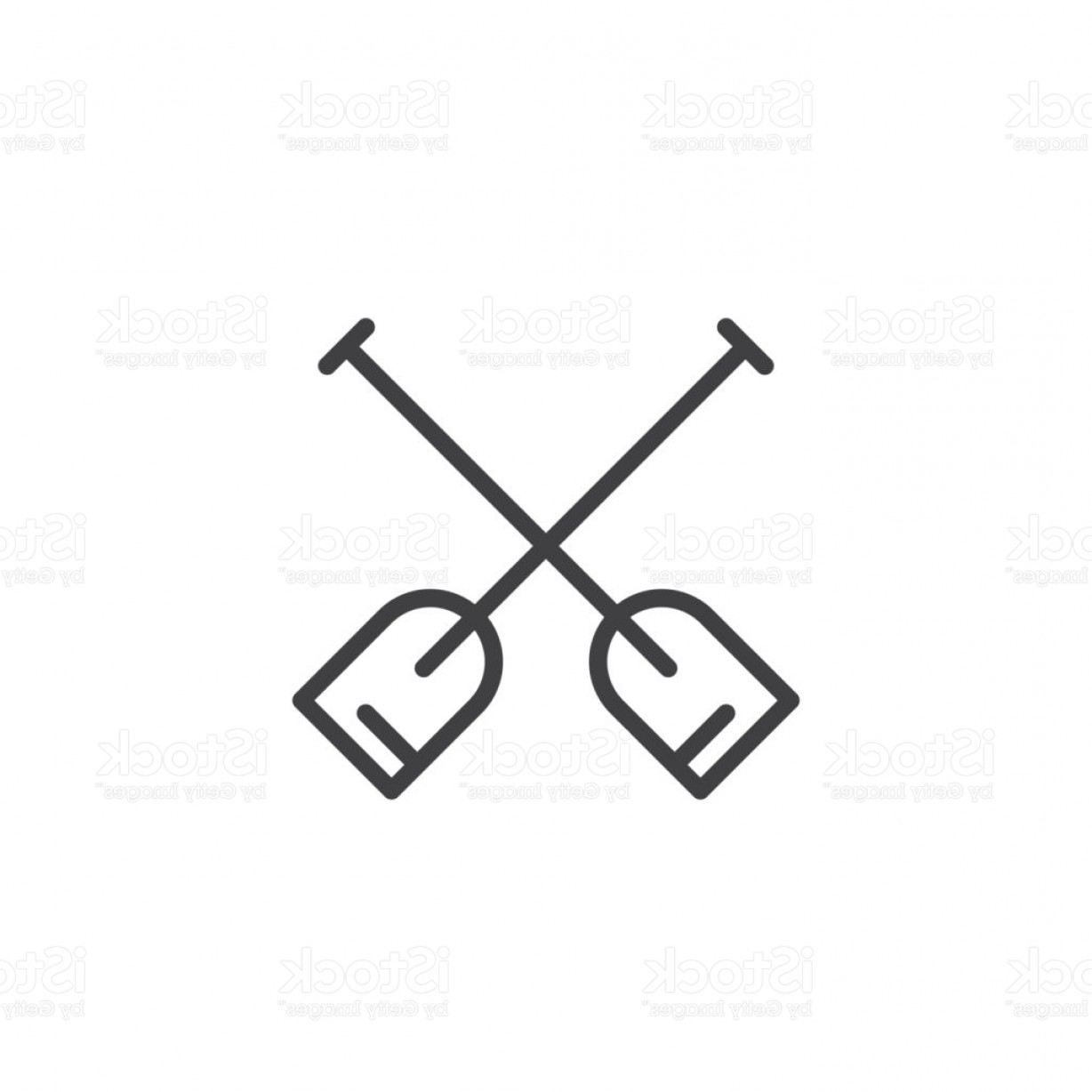 Paddle Vector Art: Double Paddle Outline Icon Gm