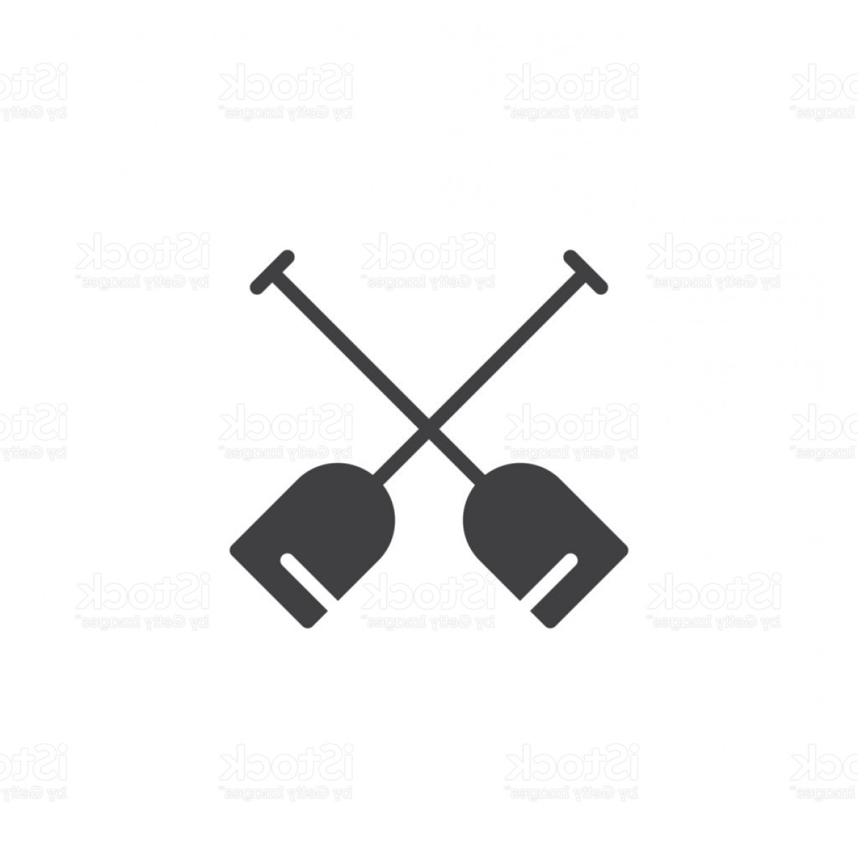 Paddle Vector Art: Double Paddle Vector Icon Gm