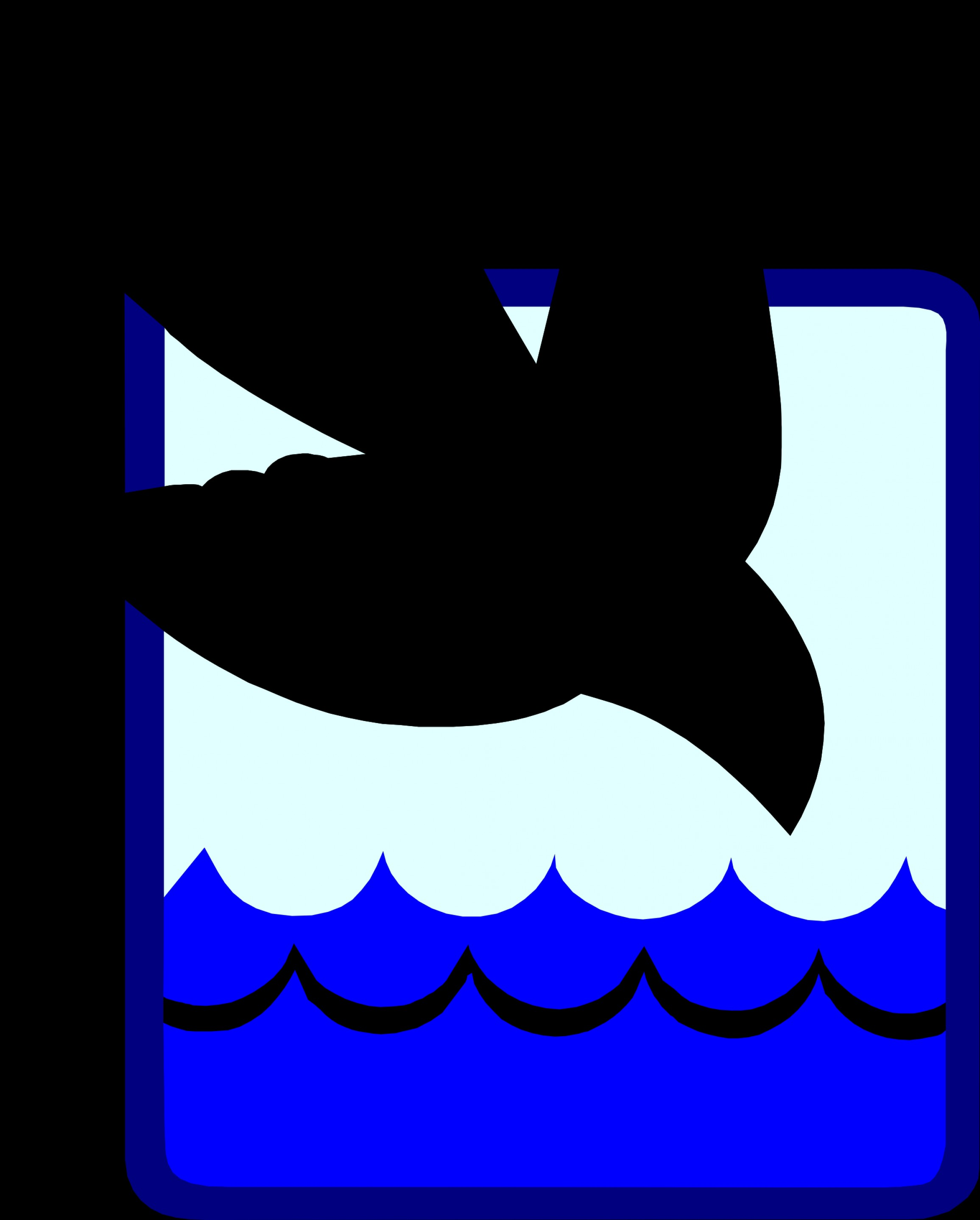 Vector Clip Art Of Water: Dove Into The Baptism Water Vector Clipart