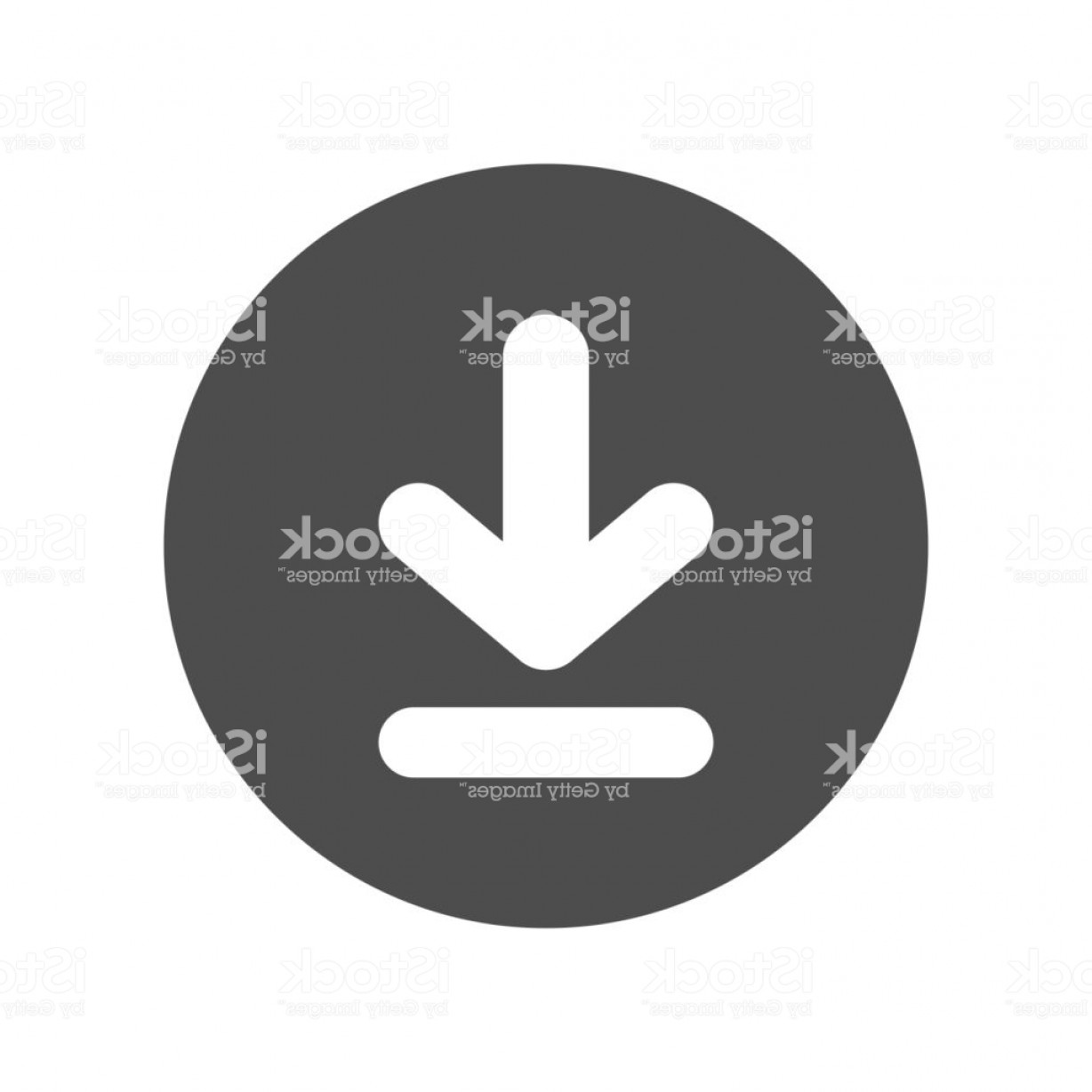 Downloadable Vector Art: Download Button Vector Icon Gm