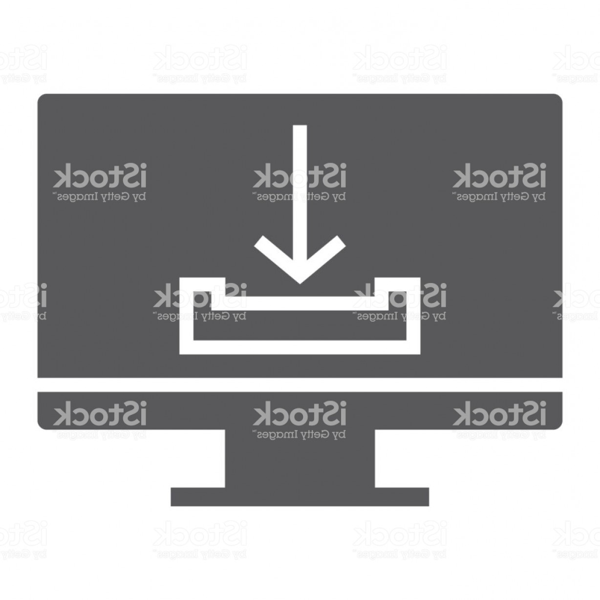 Downloadable Vector Cross: Download Glyph Icon Computer And Downloading Arrow Sign Vector Graphics A Solid Gm
