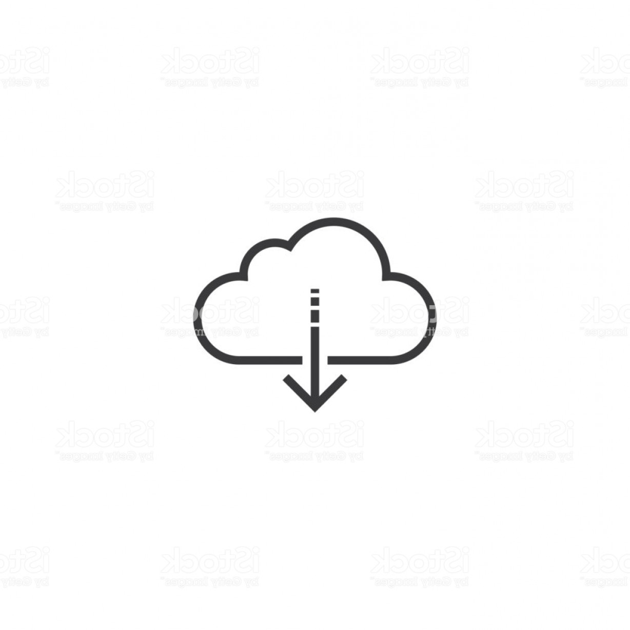 Downloadable Vector Cross: Download Icon Line Style Vector Illustration Gm