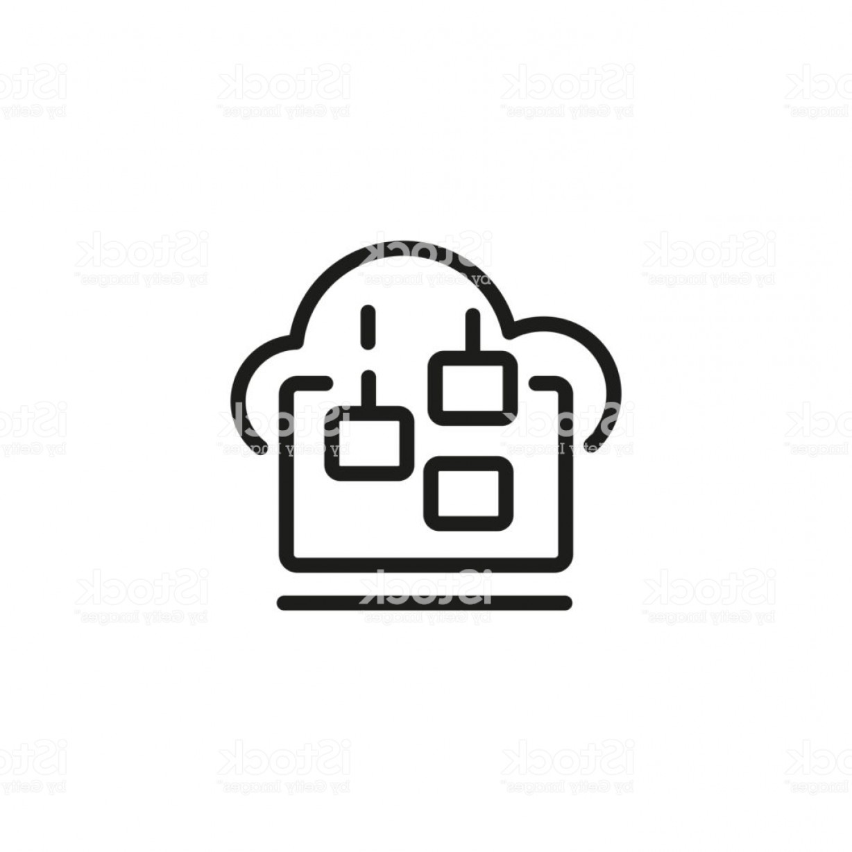 Downloadable Vector Art: Downloading Files From Cloud Storage Icon Gm