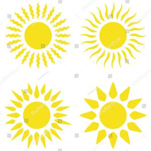 Sun Ray Clip Art Vector Graphics: Doodle Shine Sun Ray And Summer Weather Image