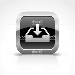 Downloadable Vector Art: Downloading And Document Tray Glossy Button Icon Gm
