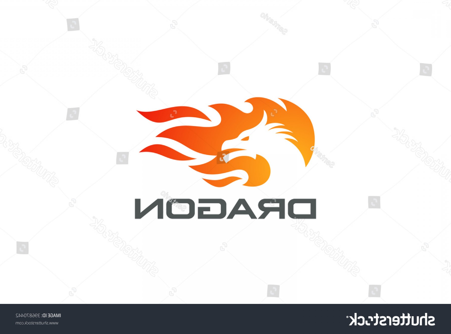 Dragon Fire Vector: Dragon Fire Flame Logo Design Vector