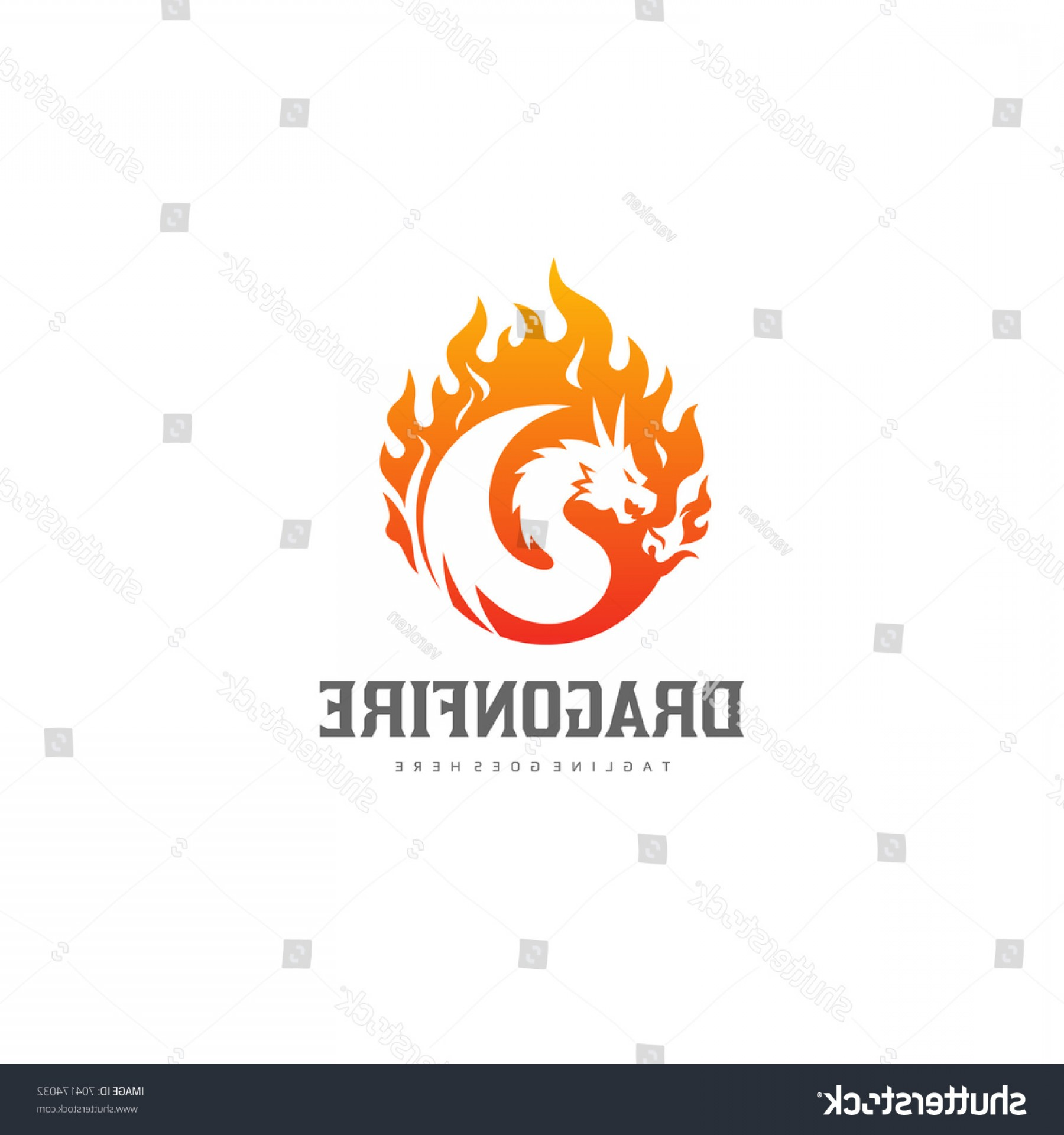 Dragon Fire Vector: Dragon Fire Logo Flame Vector