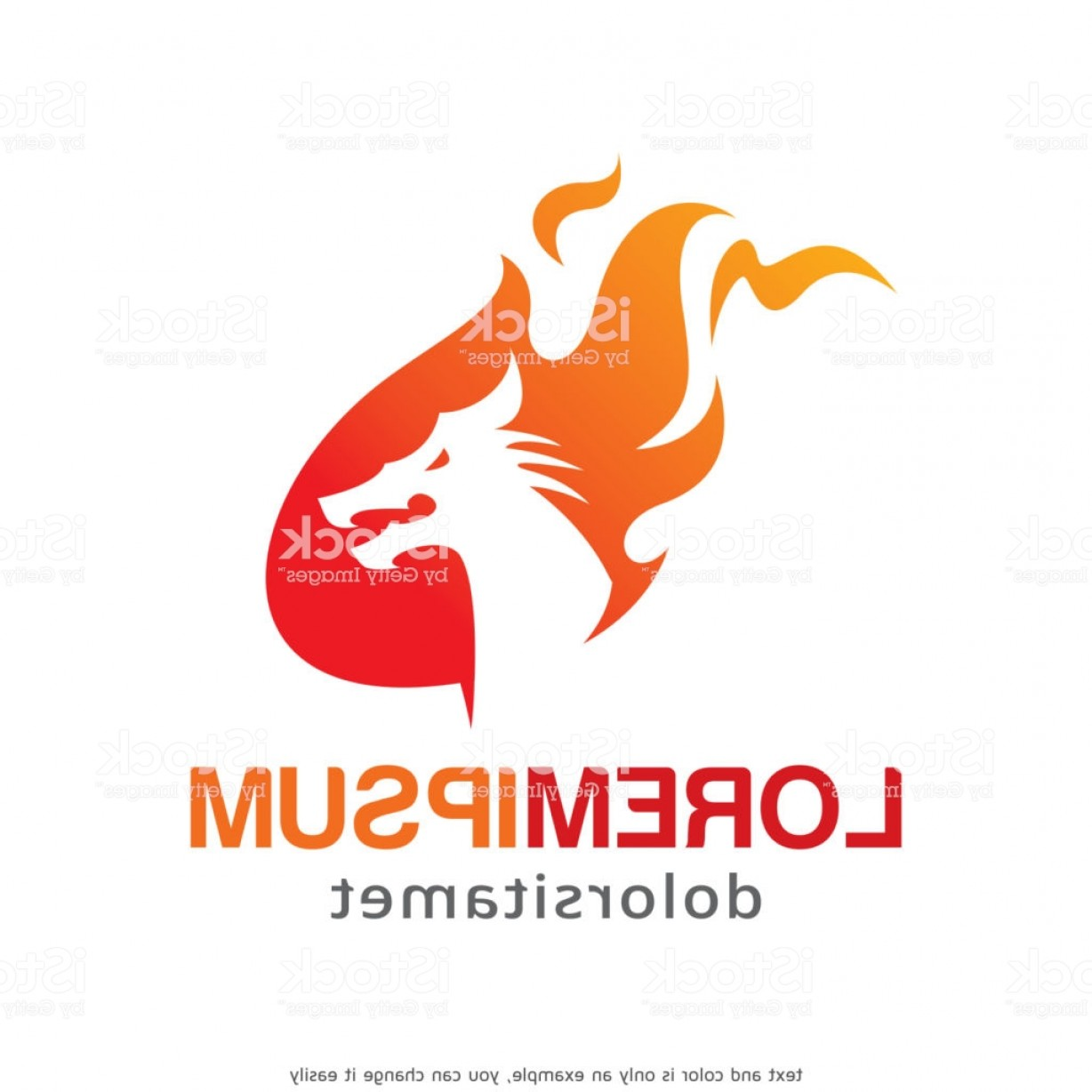 Dragon Fire Vector: Dragon Fire Symbol Template Design Vector Emblem Design Concept Creative Symbol Icon Gm
