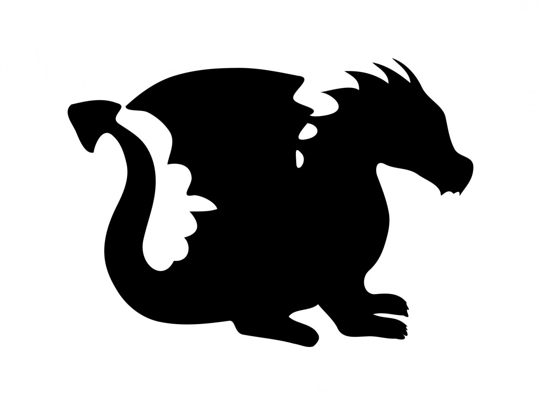 Baby Dragon Silhouette Vector: Dragon Svg Baby Dragon Svg Dragon