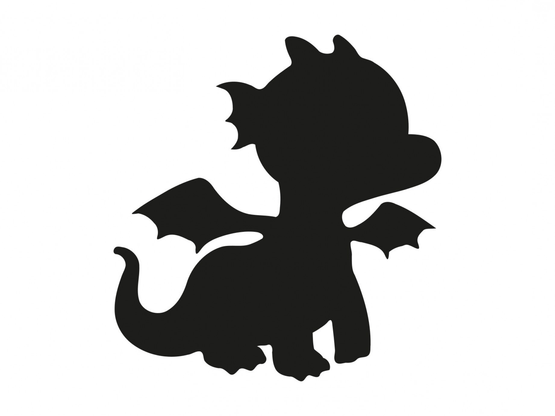 Baby Dragon Silhouette Vector: Dragon Svg Baby Dragon Svg Kid Dragon
