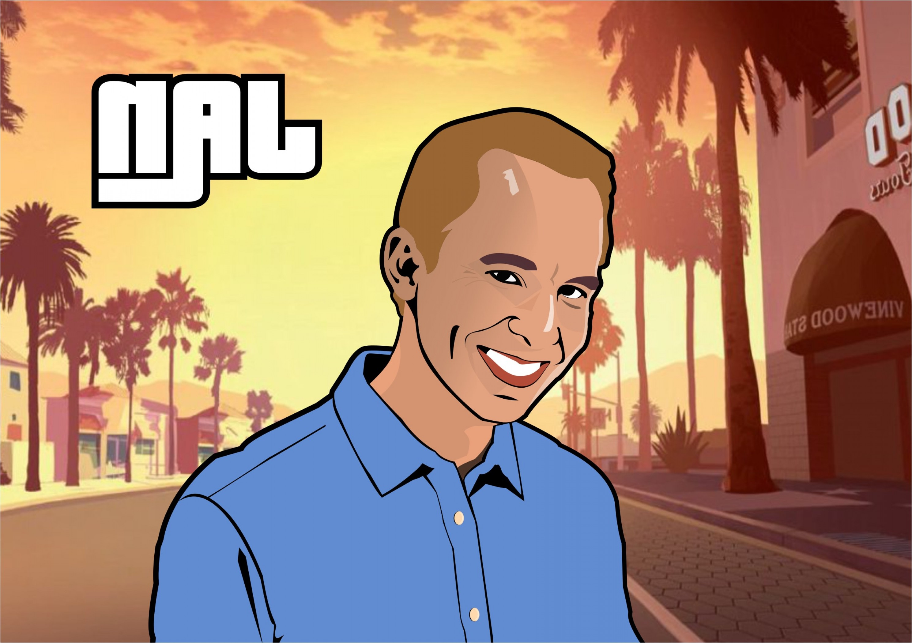 GTA Photo To Vector: Draw Vector Illustration Of Portrait In Gta Style