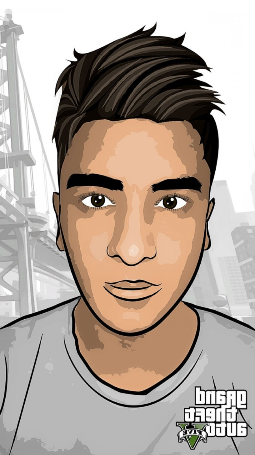 GTA Photo To Vector: Draw Your Picture As A Cartoon Gta Style Vector Art