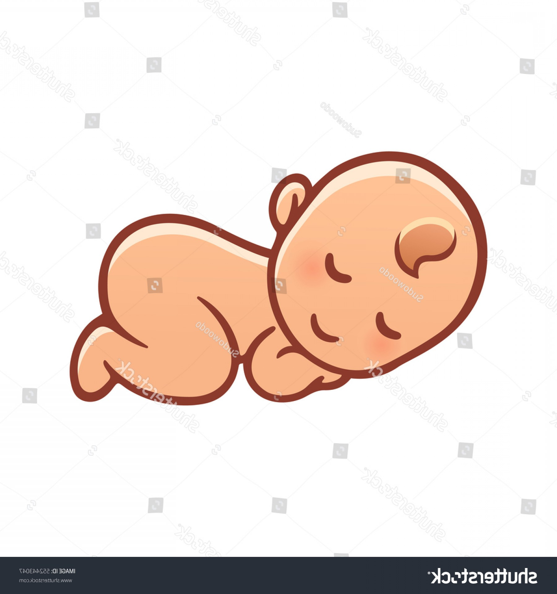 Sleeping Baby Vector: Drawing Cartoon Babies And Cute Sleeping Baby Drawing Simple Cartoon Stock Vector Royalty Free