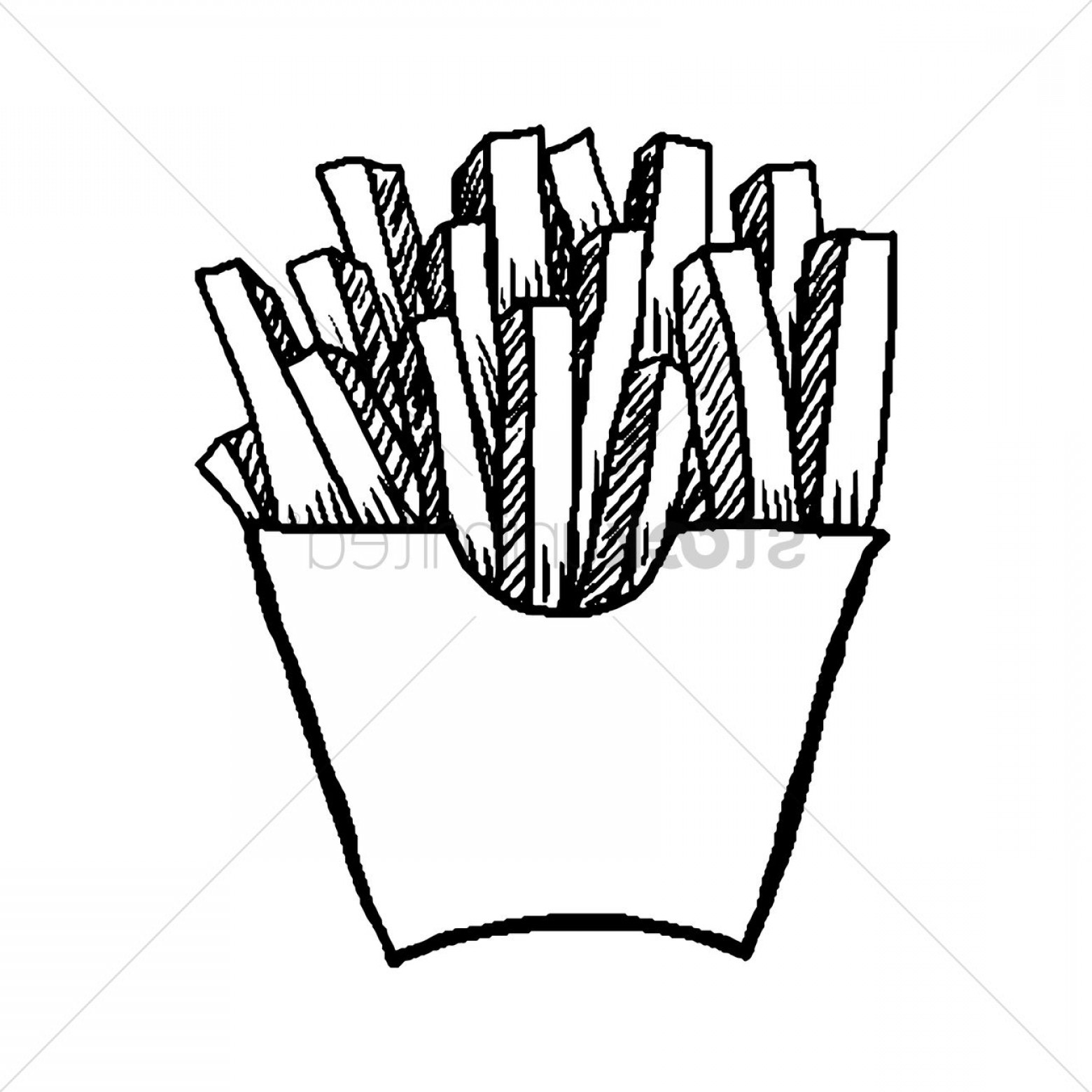 Fries Vector: Drawing Of French Fries French Fries Vector Image Stockunlimited