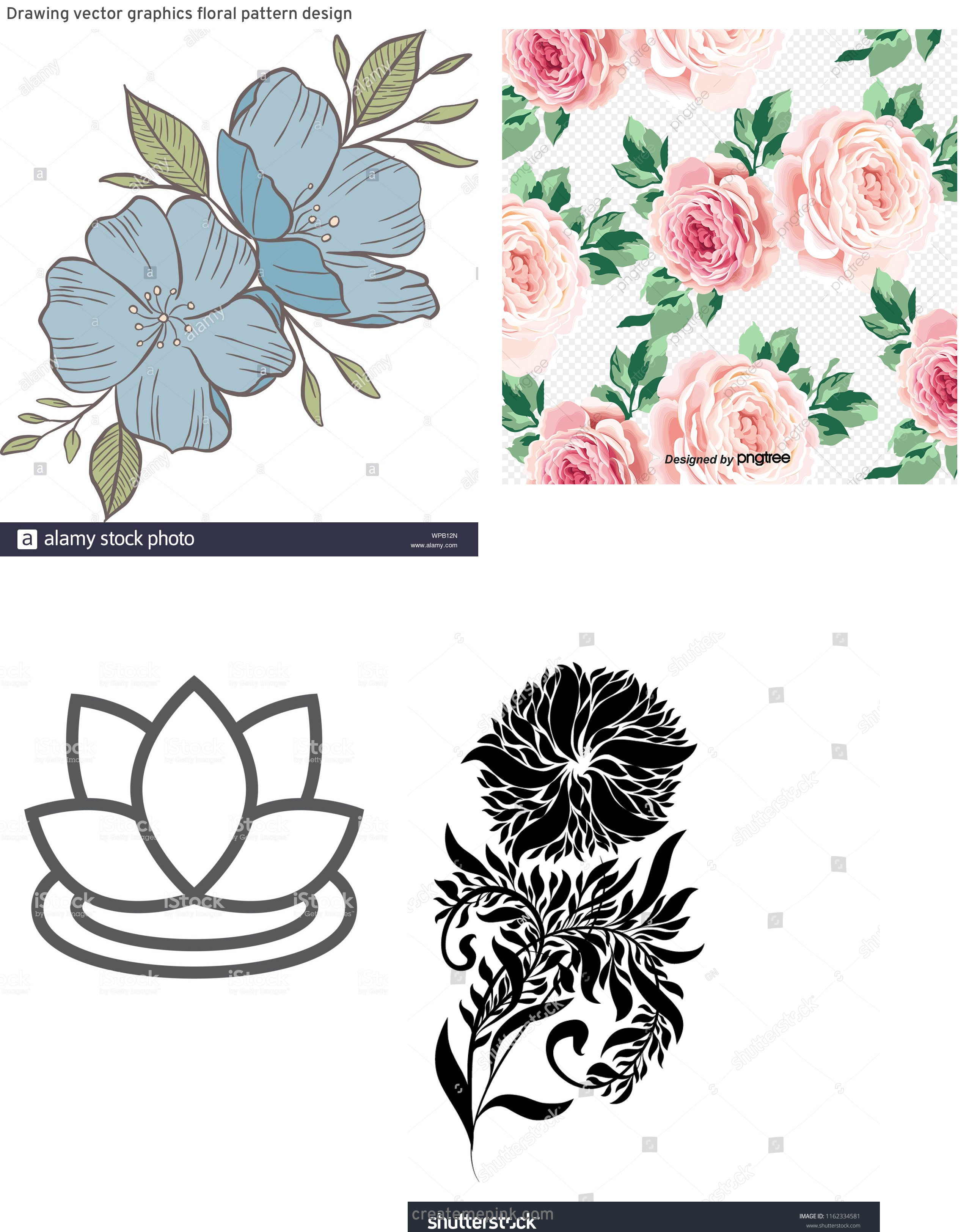 Vector Graphics Floral: Drawing Vector Graphics Floral Pattern Design