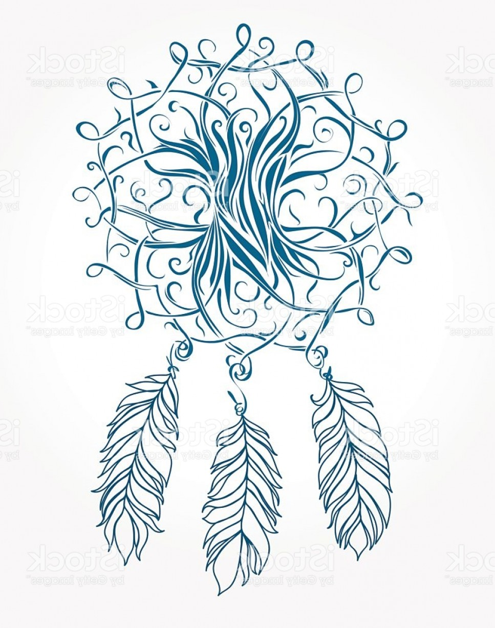Celtic Tree Vector: Dreamcatcher Celtic Tree With Feathers Mystical Symbol Gm