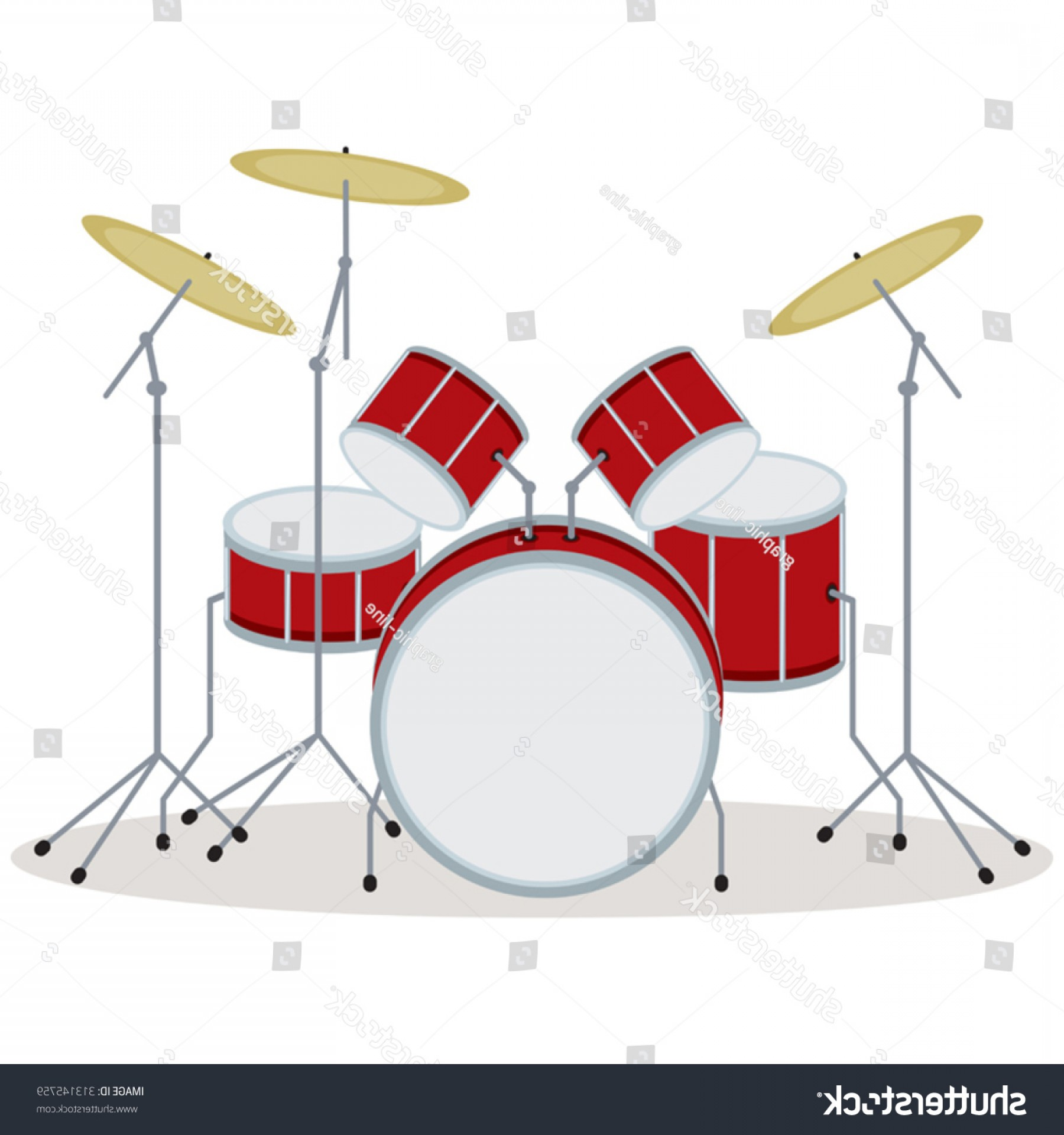 Drum Vector Art: Drum Set Vector Illustration Kit