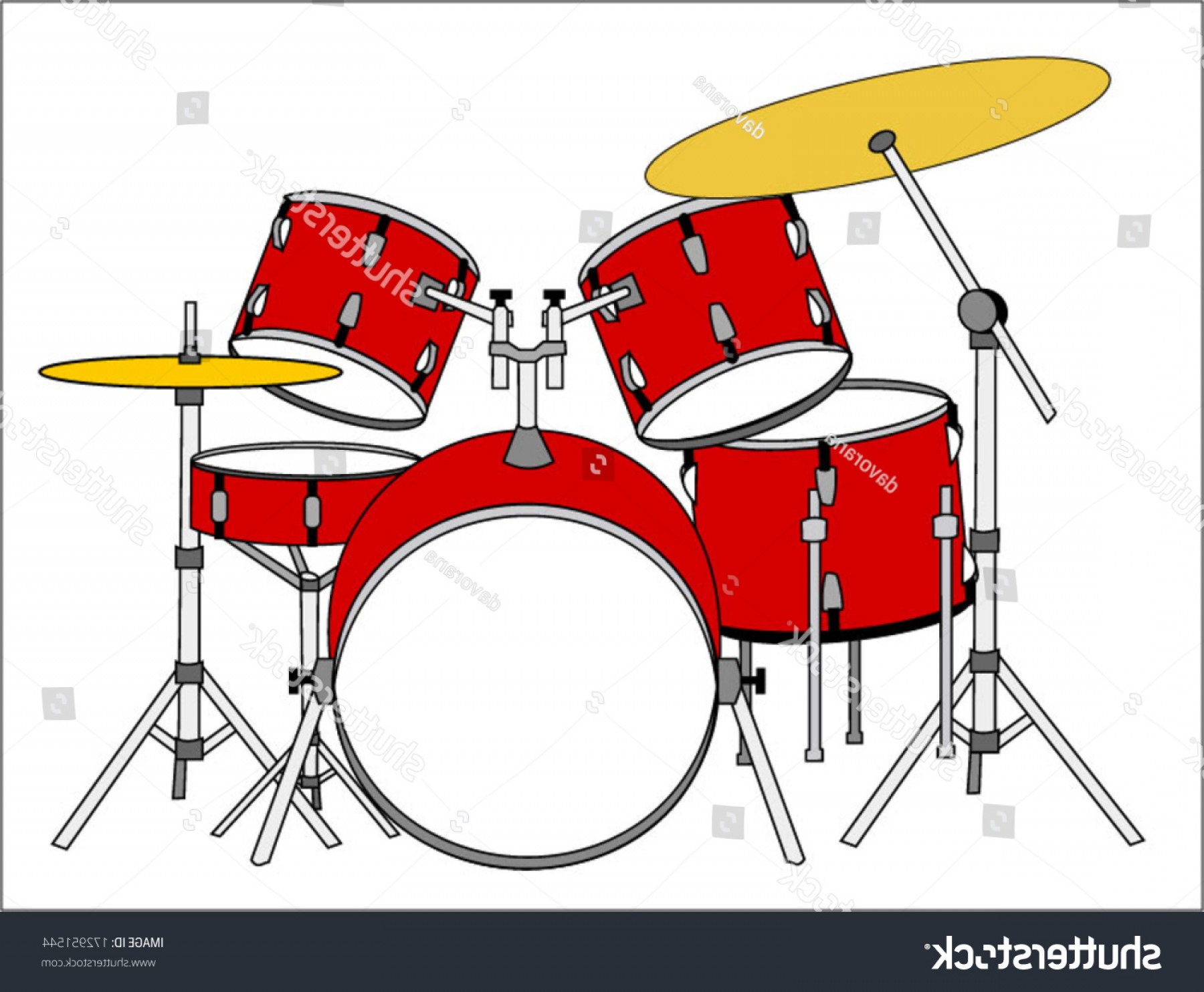Drum Vector Art: Drums Vector Art Image Illustration Isolated