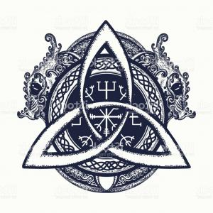 Trinity Knot Vector: Dragons And Celtic Knot Tattoo And T Shirt Design Dragons Symbol Of The Viking Helm Gm