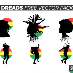 Dreadlock Silhouette Vector: Dreadlocks Vector Pack