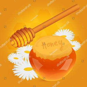 Honey Cell Vector: Dripping Honey Honeycombs Background Cell Mosaic