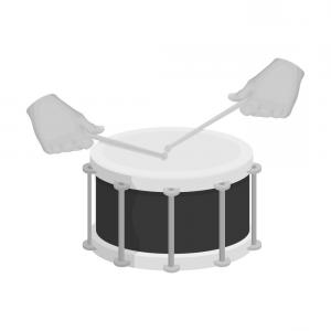 Marching Band Bass Drum Vector: Drum Percussion Musical Instrument Drum Shot Vector