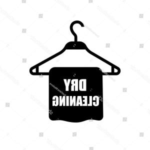 Dry Cleaning Vector: Black And White Sign For The Laundry And Dry Cleaning Gm