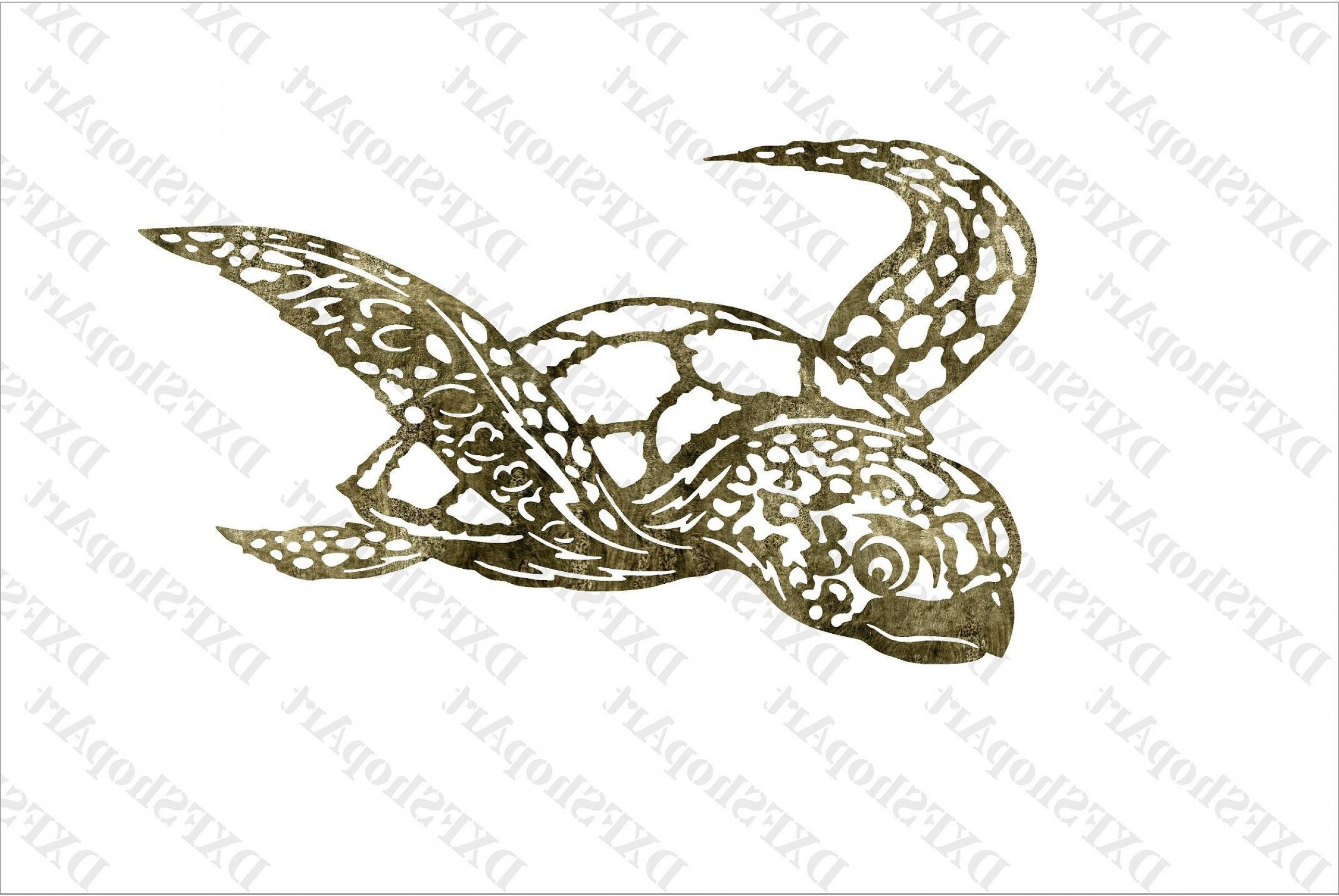 Plasma Art Fishing Vector Files: Dxf Winged Sea Turtle Decor Home Dxfcnc