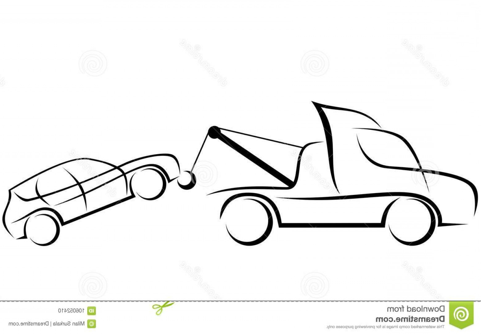 Towing Truck Hook Vector: Dynamic Illustration Tow Truck Car Helping To Transport Damaged Suv Image